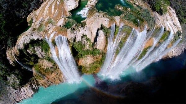 tamul waterfall drone image