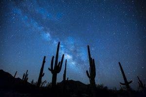 Night sky photograph in the desert