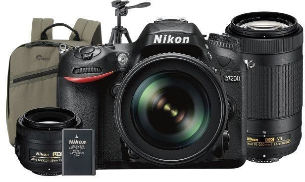 nikon d7200 dslr for backpacking