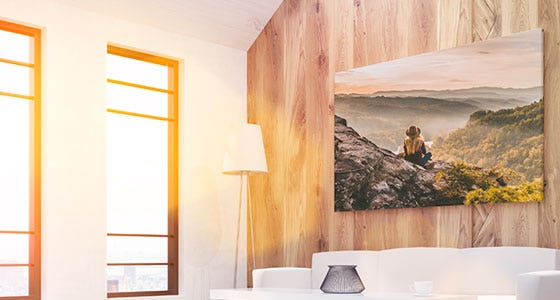 canvas-photo-wrap-hangs-on-wooden-wall
