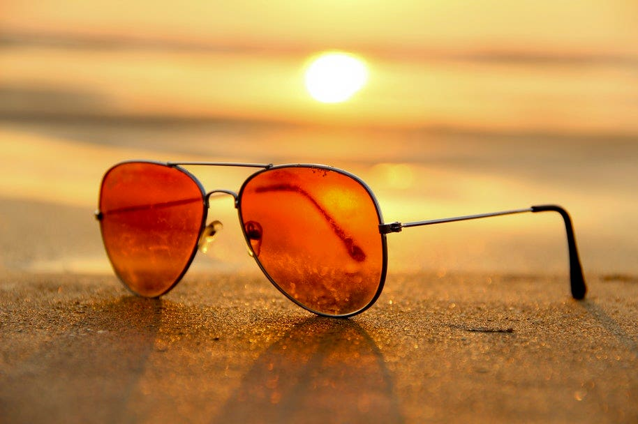sunglasses in summer photo