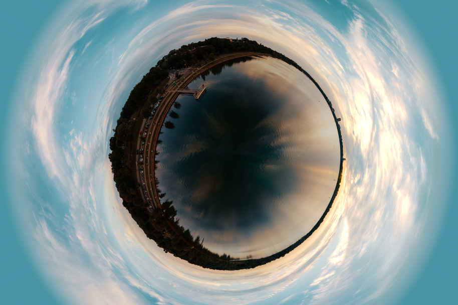 tiny planet made with 360 camera