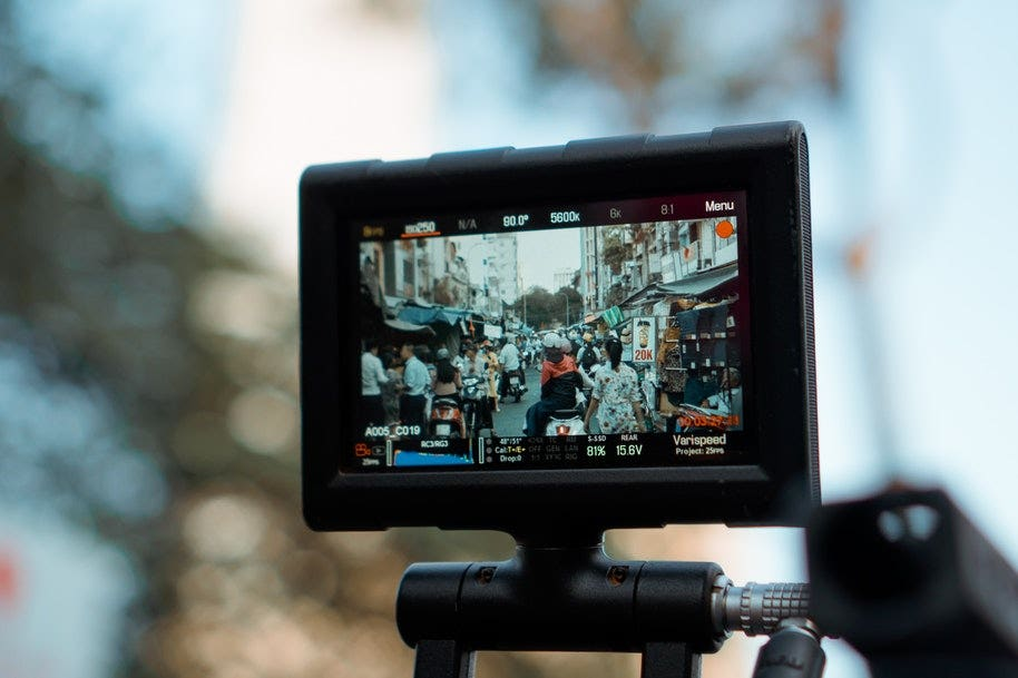 LCD recording video scene
