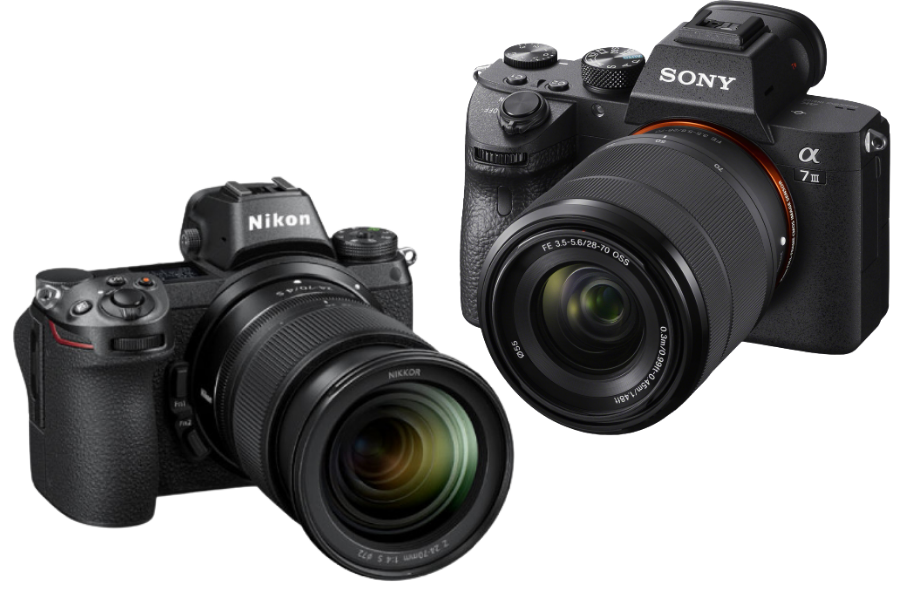 A side by side look at the Nikon Z7 vs the Sony a7 mark III