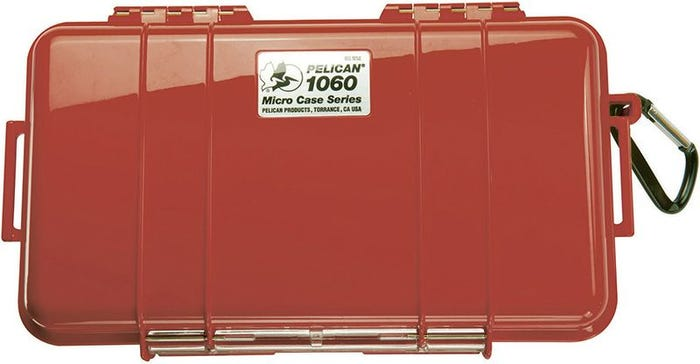 Pelican 1060 Micro Red Case with Black Liner