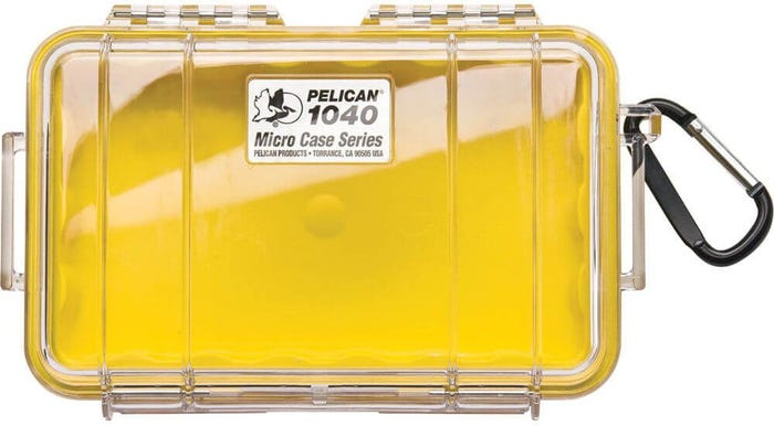 Pelican 1040 Micro Clear Case - Yellow with Yellow Liner