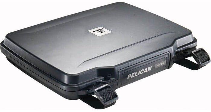 Pelican 1075 Computer Black Case with Foam & Strap
