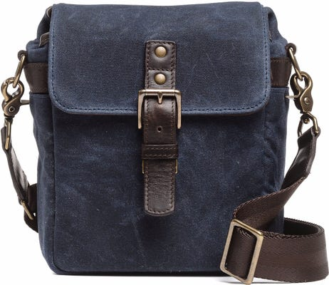 ONA Bond Street Camera Bag Waxed Canvas - Navy Blue