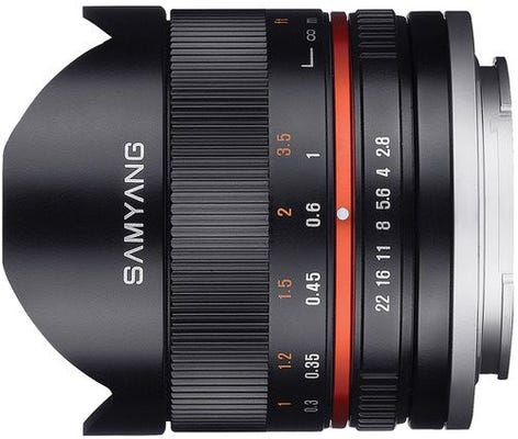 Samyang 8mm f/2.8 Fisheye UMC II - Sony E APS-C - Black