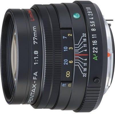 Pentax FA 77mm f/1.8 Black Telephoto Lens - Limited Edition