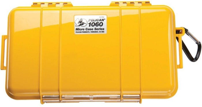 Pelican 1060 Micro Yellow Case with Black Liner