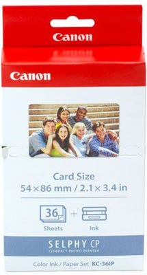 Canon KC36IP Ink/Paper Pack Credit Card Size 86x54mm To suit Selphy CP series