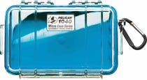 Pelican 1040 Micro Clear Case - Blue with Blue Liner