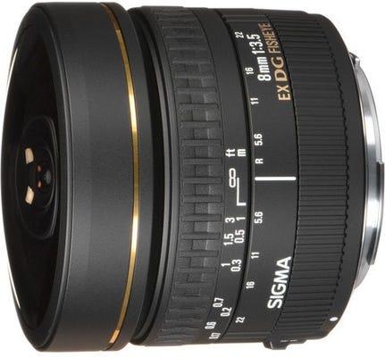 Sigma 8mm f/3.5 EX DG Circular Fisheye Lens - Nikon