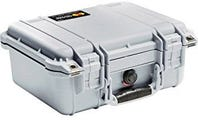 Pelican 1400 Silver Case with Foam