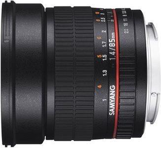 Samyang 85mm f/1.4 Nikon AE Full Frame Lens