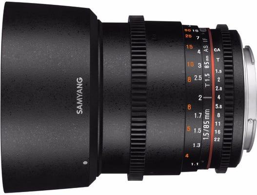 Samyang 85mm T1.5 VDSLR UMC II Canon EOS Full Frame Lens