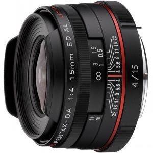 Pentax HD DA 15mm f/4 ED AL Limited Black Lens