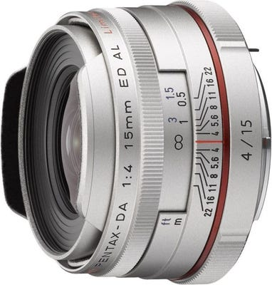 Pentax HD DA 15mm f/4 Silver ED AL Limited Wide Angle Lens
