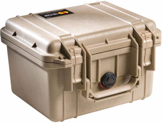 Pelican 1300 Desert Tan Case with Foam
