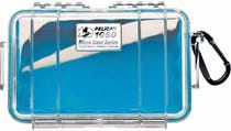 Pelican 1050 Micro Clear Case with Blue Liner