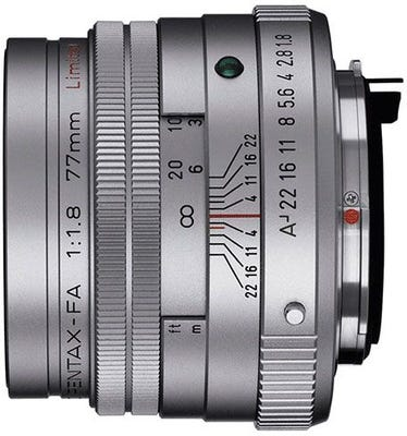 Pentax FA 77mm f/1.8 Silver Telephoto Lens - Limited Edition
