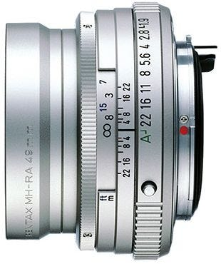 Pentax FA 43mm f/1.9 Silver Lens - Limited Edition