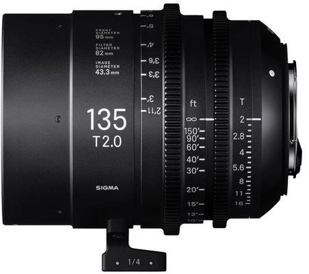 Sigma 135mm T2 CINE Lens - Canon EF