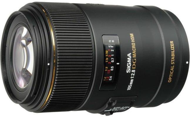 Sigma 105mm f/2.8 EX DG OS HMS Macro Lens - Nikon