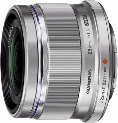 Olympus M.Zuiko 25mm f/1.8 Silver Lens