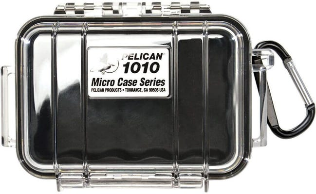 Pelican 1010 Micro Clear Case - Black with Black Liner