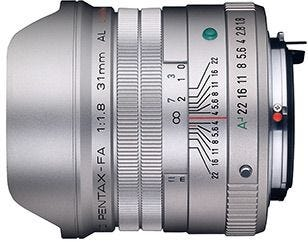 Pentax FA 31mm f/1.8 Silver Wide Angle Lens - Limited Edition