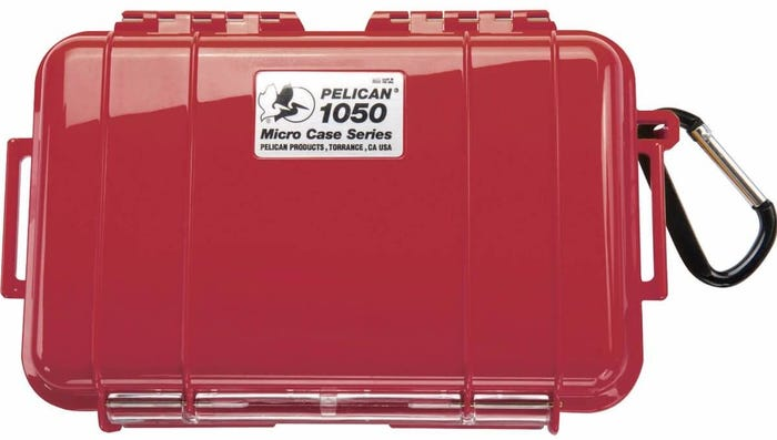 Pelican 1050 Micro Red Case with Red Liner