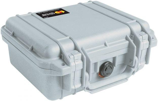 Pelican 1200 Silver Case with Foam