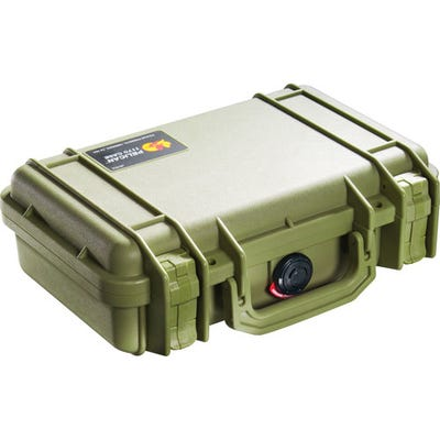 Pelican 1170 Case with Foam - Olive Green