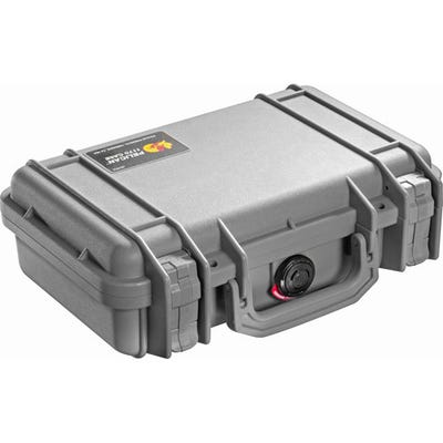 Pelican 1170 Case with Foam - Silver