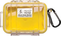 Pelican 1010 Micro Clear Case - Yellow with Yellow Liner