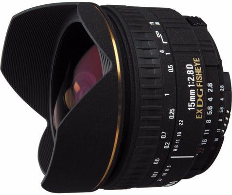 Sigma 15mm f/2.8 EX DG Diagonal Fisheye Lens - Nikon