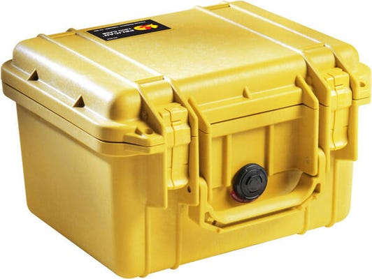 Pelican 1300 Yellow Case with Foam