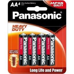 Panasonic AA 4 Pack Extra Heavy Duty Alkaline Battery