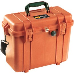 Pelican 1430 Orange Case with Office Divider Lid