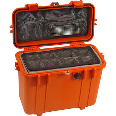 Pelican 1430 Orange Case with Photo Divider Lid