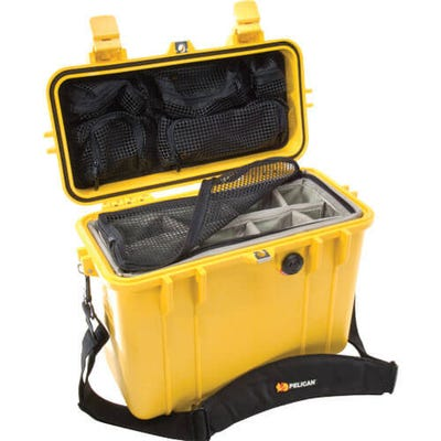 Pelican 1430 Yellow Case with Photo Divider Lid