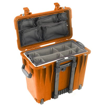 Pelican 1440 Orange Case with Divider Lid