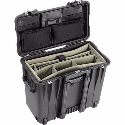 Pelican 1440 Black Case with Office Divider Lid