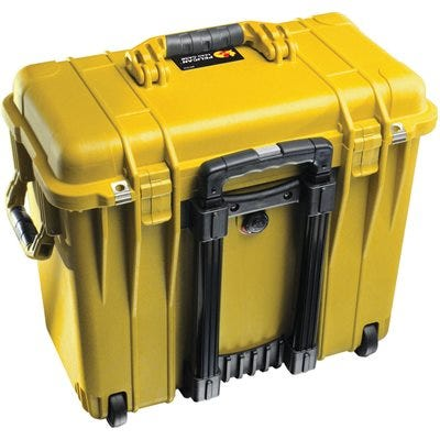Pelican 1440 Yellow Case with Office Divider Lid