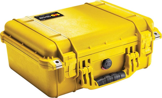 Pelican 1450 Yellow Case with Padded Dividers