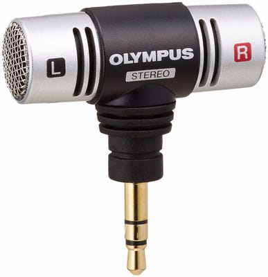 Olympus ME51S Compact Stereo Microphone with Clip