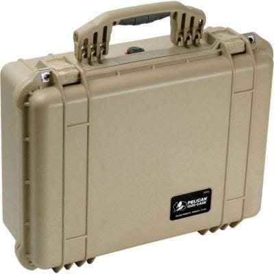 Pelican 1520 Desert Tan Case with Padded Dividers