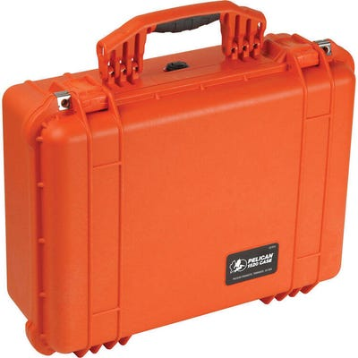 Pelican 1520 Orange Case with Padded Dividers